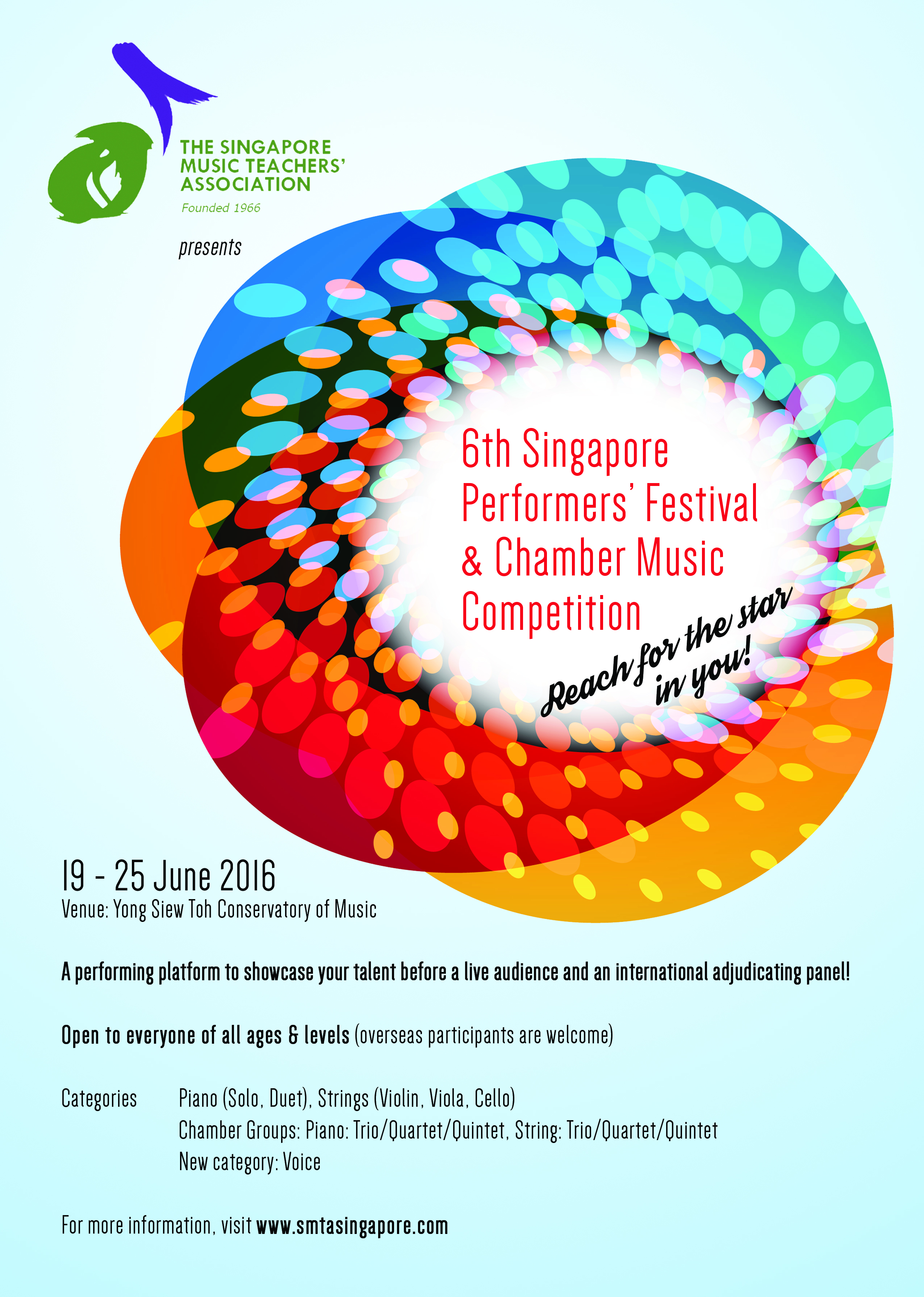 6th Singapore Performers' Festival & Chamber Music Competition 2016